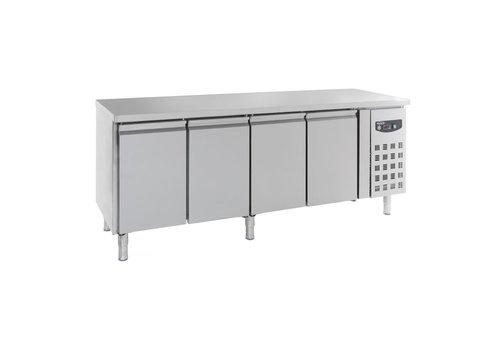 Combisteel Refrigerated workbench with 4 doors   223 x 70 x 85 cm