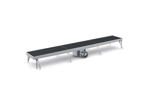 Combisteel Stainless steel floor drain   133.3 (W) x20 (D) x14 (H) cm