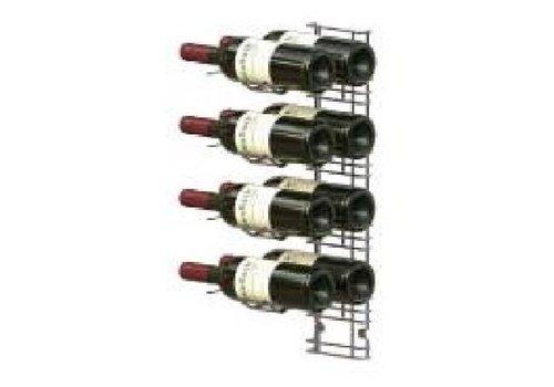 HorecaTraders Wijnrek Muurmontage - 8 Flessen