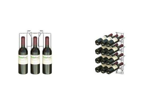 HorecaTraders Wein Auslage 12 Flaschen - Wandmontage