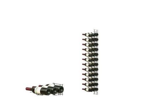 HorecaTraders Wall mounted wine rack 36 bottles