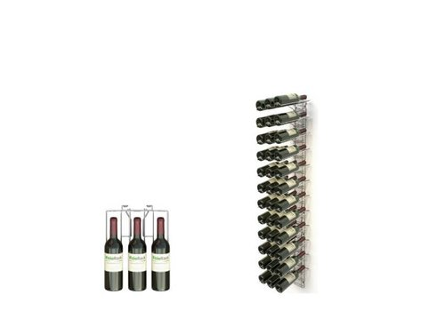 HorecaTraders Wall rack for wine bottles 36 Bottles