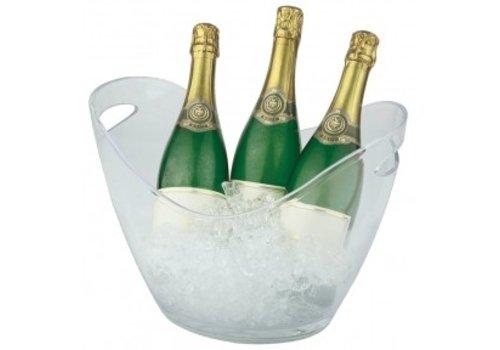 HorecaTraders Weinkühler aus Kunststoff Silverstone