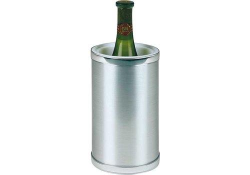HorecaTraders Weinkühler aus Kunststoff Edelstahl-Look