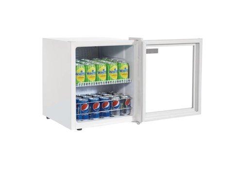 Polar Premium Mini Kühlschrank | Weiß Doppelglas | 46 Liter