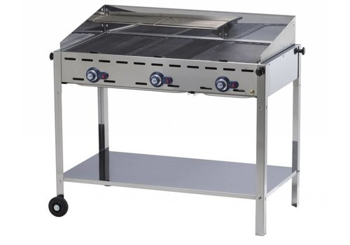 Hendi Professional Gas barbecue 3 burners