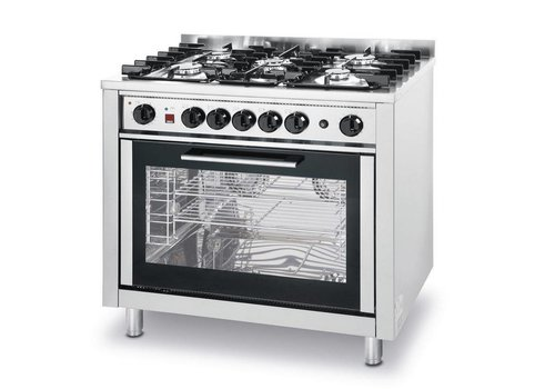 Hendi Stove with oven designed for the catering industry | 5 Burners