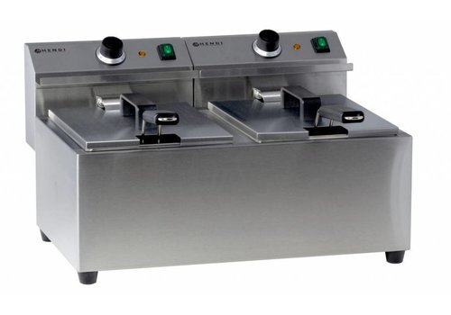 Hendi Electric Fryer MasterCook   2x8 liters