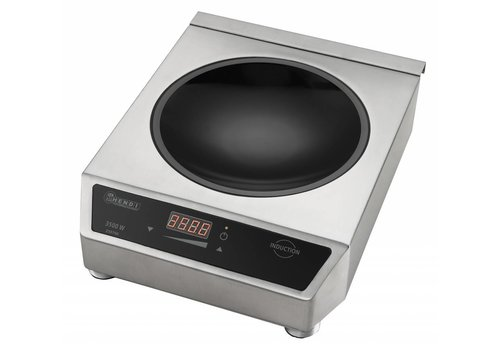 Hendi Digital Adjustable Round Induction Wok | 3500Watt