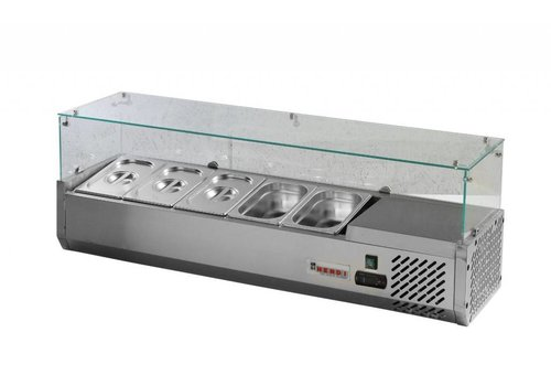 Hendi Koelvitrine RVS | 5x GN 1/4 150 mm