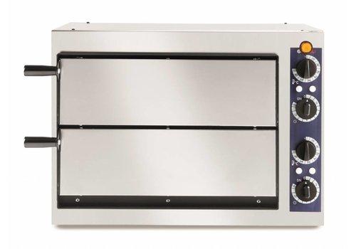 Hendi Horeca Dubbele Pizzaoven | 2400 Watt | 2 Pizza's