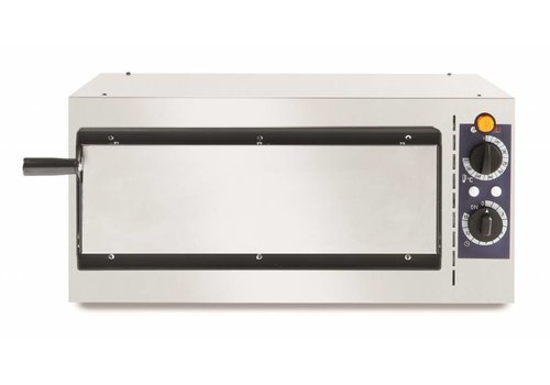 Hendi Enkele RVS Pizzaoven | 1600 Watt | 1 Pizza