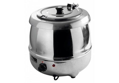 Hendi Soup kettle stainless steel | 8 liters