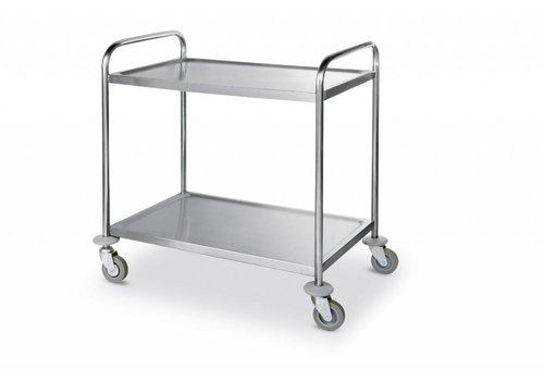 Hendi Servierwagen aus Edelstahl 2 Blatt 90x59x93 cm
