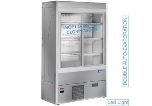 Diamond Self-service Cooling Cabinet Stainless Steel 180 cm
