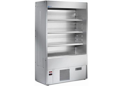 Diamond Cooled Wall Furniture with 4 shelves - Steel / Stainless - 1500x545xh1925