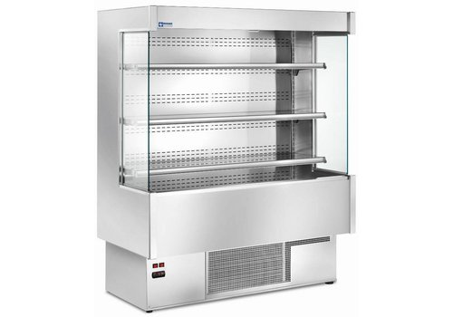 Diamond Cooled Wall Frigo with 4 shelves - Steel - Ventilated evaporator