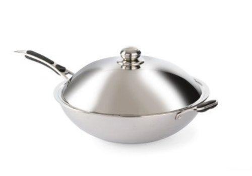 Hendi Wok pan with lid 36cm