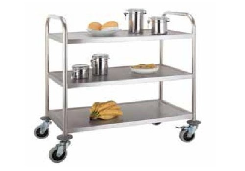 Hendi Serving trolley with 3 shelves 93 (h) x90x59cm