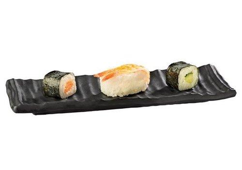 APS Melamin Sushi Plate Schwarz | 24x8x2cm