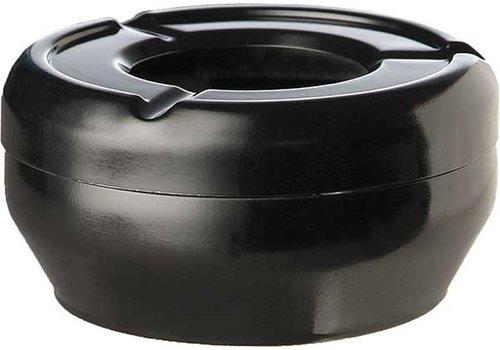 APS Black Plastic Ashtray | Ø10x4cm