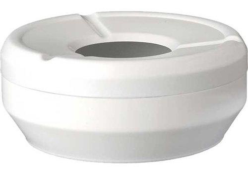 APS Weißer Aschenbecher | Stapelbar Ø10x4cm
