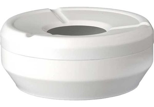 APS White Ashtray | Stackable Ø10x4cm