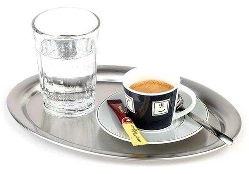 APS RVS Koffie Serveerdienblad | gerolde rand