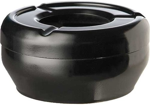 APS Ashtray Black Round Stackable Ø12x4,3cm