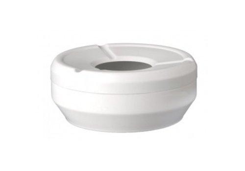 APS Weißer Aschenbecher rund | Stapelbar Ø12x4,3 cm