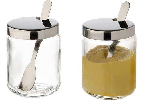 APS Sauzen glazen met rvs deksel Ø5x6cm