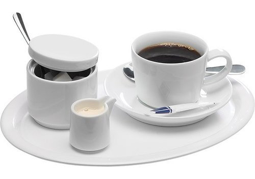 APS Serve Dish White Melamine | 2 formats