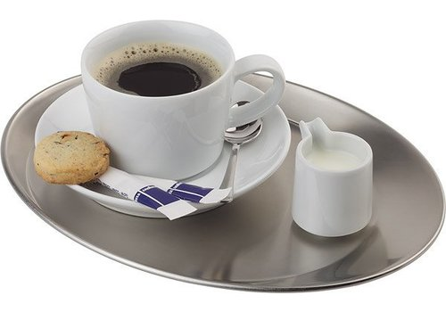 APS Coffee cup Serving plate stainless 30x23x2cm