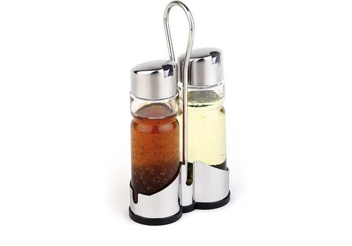APS Vinegar and Oil Menage | with stainless steel cover