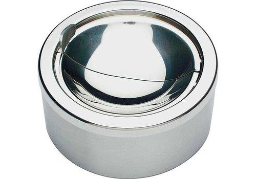 APS Ashtrays Round stainless steel Ø12cm