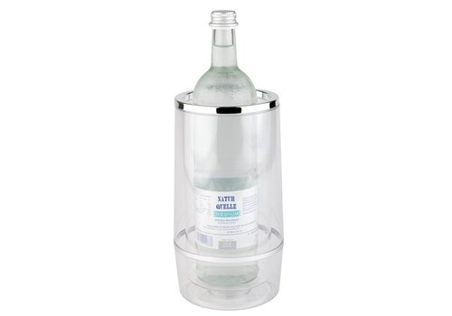 APS Transparante Wijnfles Koeler met Luxe Chrome Rand
