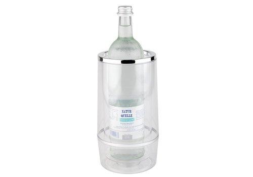 APS Transparencies Weinflaschenkühler mit Luxuxchrom Kante
