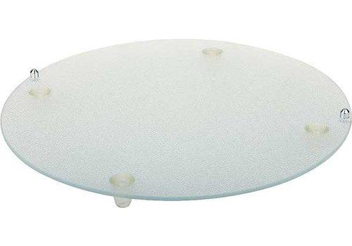 APS Glas Anti-Rutsch-Tablett Kratzschutz-Ø 38 cm