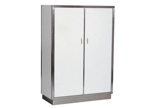 HorecaTraders Stainless steel Horeca porcelain cupboard 95 cm