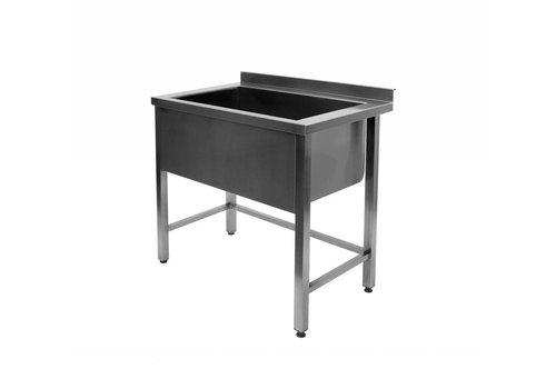 HorecaTraders Sink Stainless Steel | large sink | 120x70x85 cm