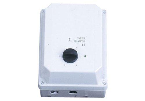 HorecaTraders Professionele Ventilator Schakelaar 1 Fase 3 Ampere