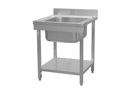 HorecaTraders Stainless Steel Sink Klein Tools | 70x70x85 cm