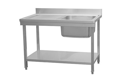 HorecaTraders Sink Stainless Steel | sink right | 120x70x90 cm