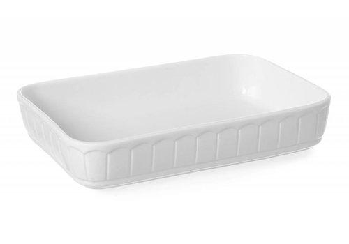 Hendi Porcelain Baking dish Rectangular | 37.5x26 cm