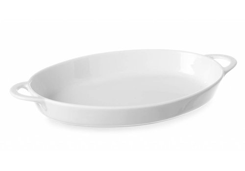 Hendi Oven Dishes Porcelain White With Handles (6 pieces)