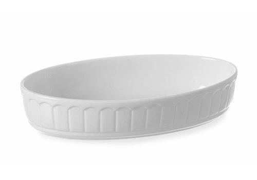 Hendi Oval baking dish Porcelain White