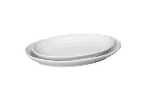 Hendi White Porcelain Serving bowl Oval (6 pieces)