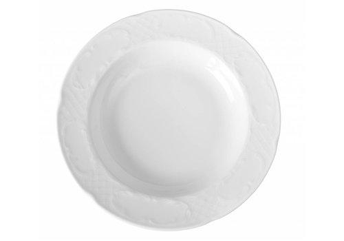 Hendi Deep Porcelain Dinner Plate | 24x37 cm (6 pieces)