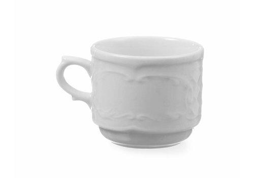 Hendi Weiß Cappuccino-Tasse Porzellan | 250 ml (6 Einheiten)