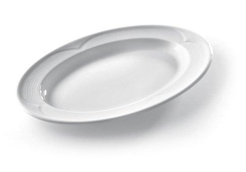 Hendi Oval Serve Dishes White Porcelain | 34x24cm (6 pieces)